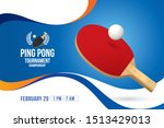 vector of ping pong background. ... | Shutterstock .eps vector #1513429013