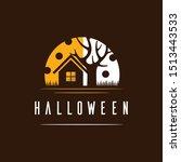 home scary halloween creative... | Shutterstock .eps vector #1513443533