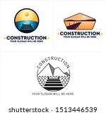 Construction Design Logo With...
