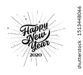 happy 2020 new year. holiday... | Shutterstock .eps vector #1513448066