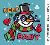 cartoon snowman illustration t... | Shutterstock .eps vector #1513458476
