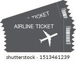 flight ticket icon on white...