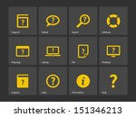 help and faq icons. vector...