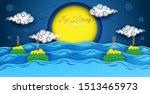 loy kratong thailand festival ... | Shutterstock .eps vector #1513465973