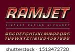 racing alphabet  font for... | Shutterstock .eps vector #1513472720