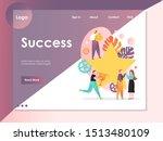 success vector website template ...   Shutterstock .eps vector #1513480109