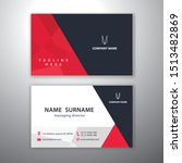 black and red business cards... | Shutterstock .eps vector #1513482869