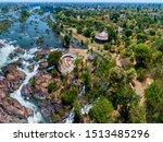 Aerial View Of Li Phi Waterfall ...