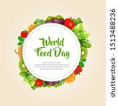 world food day frame with... | Shutterstock .eps vector #1513488236