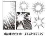 manga speed line set with...   Shutterstock .eps vector #1513489730