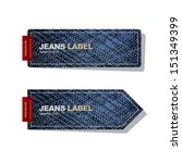 jeans label on white background ... | Shutterstock .eps vector #151349399