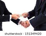 businessmen shaking hands and...   Shutterstock . vector #151349420