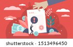 pay fine vector illustration.... | Shutterstock .eps vector #1513496450