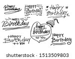 hand drawn of doodle set... | Shutterstock .eps vector #1513509803