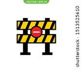 roadblock flat icon vector... | Shutterstock .eps vector #1513525610