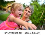 little child is crying  | Shutterstock . vector #151353104