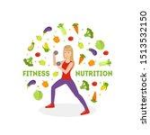 fitness nutrition banner  slim... | Shutterstock .eps vector #1513532150
