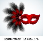 carnival feathers mask ... | Shutterstock .eps vector #151353776