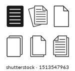 document icon set  document... | Shutterstock .eps vector #1513547963