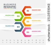 colorful infographic arrow with ... | Shutterstock .eps vector #1513555043