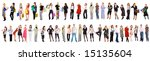 47 separate people | Shutterstock . vector #15135604