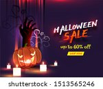 halloween sale banner or poster ... | Shutterstock .eps vector #1513565246