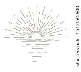 sunburst thin line vector... | Shutterstock .eps vector #1513565900