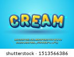 cute font for kids  glossy... | Shutterstock .eps vector #1513566386