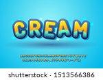 cute font for kids  glossy... | Shutterstock .eps vector #1513566386