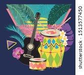 music design with retro... | Shutterstock .eps vector #1513577450