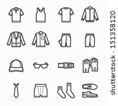 men clothing icons with white... | Shutterstock .eps vector #151358120
