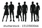 black silhouettes of women and... | Shutterstock .eps vector #1513583066