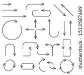 black simple arrows. web icons. ... | Shutterstock .eps vector #1513587689