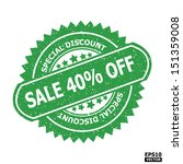 sale 40  off rubber stamp sign. ... | Shutterstock .eps vector #151359008