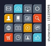flat design vector icons of...