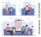 flyer set parents and children  ... | Shutterstock .eps vector #1513615430