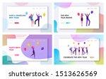 joyful friends or colleagues... | Shutterstock .eps vector #1513626569
