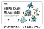 supply chain management... | Shutterstock .eps vector #1513634960