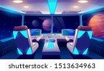spaceship cockpit interior with ... | Shutterstock .eps vector #1513634963