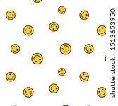 Smile Background. Pattern Of...