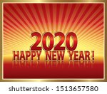 2020 new year banner in 3d...