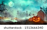 Halloween Pumpkins On The...