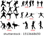 25 silhouettes of various... | Shutterstock .eps vector #1513668650