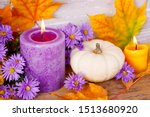 Colorful Autumn Decoration With ...