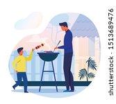 backyard barbecue  picnic flat...   Shutterstock .eps vector #1513689476