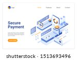 secure payment isometric vector ...