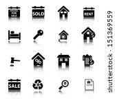 real estate icons | Shutterstock .eps vector #151369559
