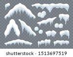 snow ice set winter roof cap... | Shutterstock .eps vector #1513697519