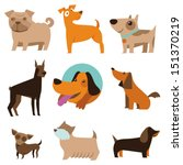 vector set of funny cartoon... | Shutterstock .eps vector #151370219