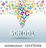 back to school. conceptual... | Shutterstock .eps vector #151370336